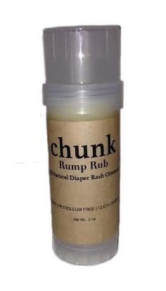 Chunk Rump Rub on Amazon---sale price of $10.95!  All natural, organic, and cloth diaper safe!