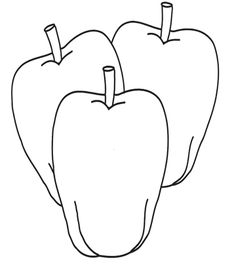 Three Apples Coloring Page