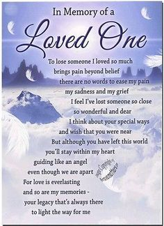 Grave Card - Memory Of Loved One - Free Holder M115