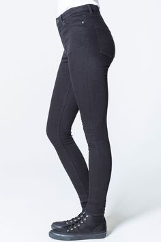 Cheap Monday Image 3 of High Skin Pure Black Jeans in Pure Black