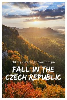 Hiking Day Trips from Prague: Join us on our most popular hiking trip through the Bohemian Switzerland national park, and experience the glorious colors of Fall in the Czech Republic!