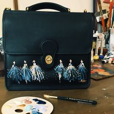 We caught up with Katie Rodgers of Paper Fashion. Simple Sandals, Painted Bags, Paper Fashion, Fashion Illustration Sketches, Classic Wardrobe, Nursing Clothes, Work Shirts, Silk Painting, Going To The Gym