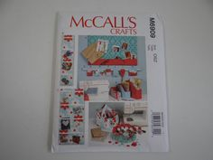 New Uncut FF McCall's Crafts 6909 Pattern - Message Board Wall Organizer Basket Organizer - Sewing Supplies and Craft Organizer by SecondWindShop on Etsy