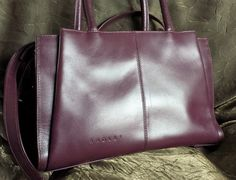Radley Leather Tote Messenger bag - vintage Radley Burgundy Wine Red Leather Messenger Satchel Tote Bag by LuckSy on Etsy