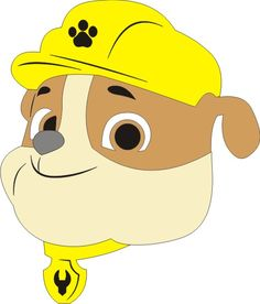 Rubble - Paw Patrol Character Colours as Shown x Max Rubble Paw Patrol Cake, Zuma Paw Patrol, Paw Patrol Theme Party, Paw Patrol Birthday Invitations, Paw Patrol Dog Costume, Paw Patrol Clipart, Embroidery Designs, Cumple Paw Patrol, Paw Patrol Characters