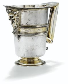A Spanish parcel-gilt silver ewer, by Alonso Gaspar, Valladolid, c1600 (Sotheby's)