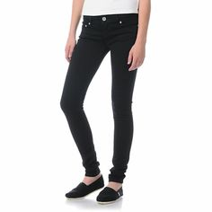 These are definitely a must have for any wardrobe. When style is a 365/24/7 obligation and the Almost Famous Willow black jeggings are a necessity. The super stretchy Almost Famous jeans are a tight skinny fit from thigh to ankle. These all black skinny j