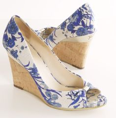 Gucci Floral Canvas Wedges - these look like my favorite Payless shoes, if I stenciled some designs on them! I assume these are also on sale for $14.99?
