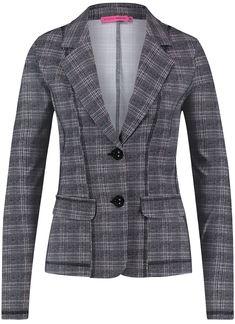 bbc279c5cfa Studio Anneloes clear check blazer 02454 Dames kleding Jassen zwart €  129,95 ✓ Direct