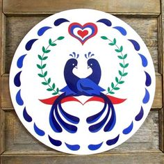 Pennsylvania Dutch Hex sign - love, marriage & happiness.