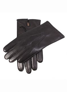 6a9891e3509 Dents Gloves - Black Cashmere Lined Chelsea Leather Gloves