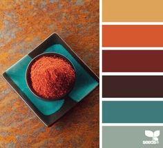 color spice Color Palette by Design Seeds Interior Color Schemes, Kitchen Colour Schemes, Kitchen Colors, Kitchen Yellow, Bathroom Colors, Kitchen Ideas, Kitchen Grey, Kitchen Paint, Bathroom Yellow