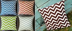 For all my Chevron Print lovers! Chevron pillows!  2 for $19 thru this site!
