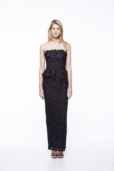 Propose Lace in Black #eileenkirby #blackdress #Lace #gowns #prom #strapless #eveinggown #eveningwear #peplum