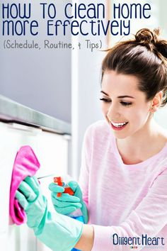 Cleaning home is not a fun task for many. Most avoid it but we all know it needs to get done, right? I'm sharing my clean home routine, schedules, and how to's!! I adiligentheart.com