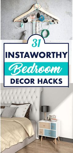 These bedroom organizing ideas are all that you need to organize your bedroom. Clean your bedroom and get it organized with these easy organizing tips! Diy Room Decor For Teens, Easy Diy Room Decor, Teen Room Decor, Bedroom Decor, Home Decor, Office Organization Tips, Small Bathroom Organization, Bedroom Organization, Organizing Your Home