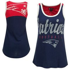 New England Patriots Ladies National Title Tank Top - Navy Blue/Red