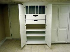 basement storage Basement Makeover, Basement Storage, Basement Renovations, Office Storage, Storage Room, Basement Ideas, Storage Ideas, Home Improvement Grants, Home Organization