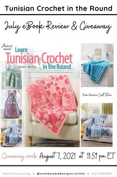 Tunisian Crochet in the Round Enter for a chance to win your own digital copy of Tunisian Crochet in the Round. Giveaway open worldwide where allowed by law. Void in Quebec. Ends August 7, 2021 at 11:59 pm ET. Not affiliated with Facebook or Instagram. Annie's Crochet, Crochet Round, Tunisian Crochet, Elephant Blanket, Bind Off, Photo Tutorial, Quebec, Craft Stores, Baby Love