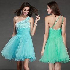 Homecoming Turquoise Short Mini Cocktail party Evening Formal Ball Prom Dress