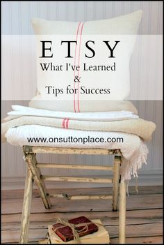 Etsy: What I've Learned - On Sutton Place Etsy: What I've Learned & Tips for Success (I've read a lot of these but this one was particularly thoughtful) If you love arts and crafts you actually will enjoy this site! Etsy Business, Business Advice, Craft Business, Creative Business, Crafts To Sell, Selling Crafts, Selling Art, Selling Online, Craft Show Ideas