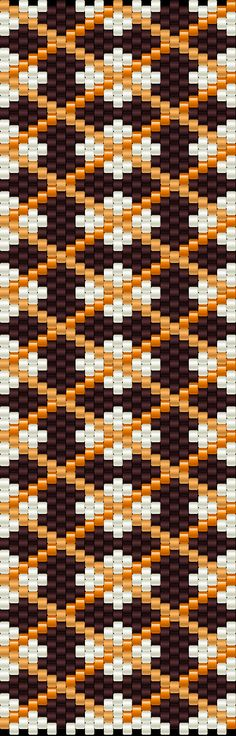 ESQUEMA MANCHETE de PERLEAQUA  .... Another bead pattern that would make cool knitted socks in fair isle