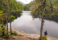 Our decision to stay two days was made so we'd have plenty of time to dinghy over to the falls and hike up to Cassel Lake for a swim in the fresh water of Cassel Lake. Making our way up the rugged worn path we were rewarded with a pristine natural trail (at least for the last 70 years it has not been logged) and finally Cassel Lake. Today the area is a Canadian Provential Park. We spent a couple of hours on our hike, before returning to the dinghy and another pass by the cascading waterfall…