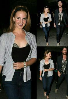 Lana Del Rey and Jonathan Wilson leaving Rihanna's concert in Los Angeles #LDR