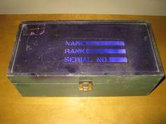 Vintage GI Joe wooden footlocker1960s by oakiesclaptrap on Etsy