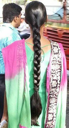 Beautiful Girl Indian, Beautiful Indian Actress, Indian Hairstyles, Braided Hairstyles, Indian Long Hair Braid, Beautiful Braids, Super Long Hair, Braids For Long Hair, Indian Actresses
