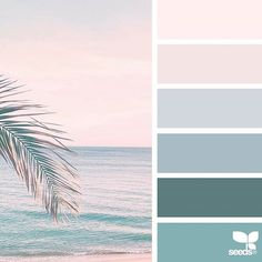 Explore Design Seeds color palettes by collection. Palettes Color, Coastal Color Palettes, Pastel Colour Palette, Coastal Colors, Tropical Colors, Colour Pallette, Colour Schemes, Color Combinations, Pastel Colours