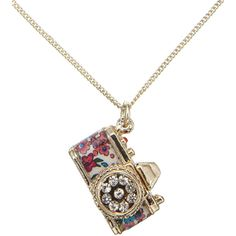 Accessorize Retro Camera Pendant (6.79 CAD) ❤ liked on Polyvore featuring jewelry, necklaces, accessories, colares, collares, pink, vintage jewelry, pink jewelry, vintage jewellery and accessorize jewelry