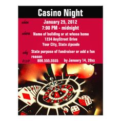 17 best casino night fundraiser ideas images on pinterest casino several invitation ideas casino poker night party announcements stopboris Choice Image