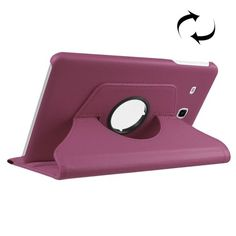 For+Tab+E+8.0+Purple+Litchi+Flip+Leather+Case+with+360°+Rotating+Holder