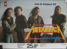 Ticket stub, METALLICA @ Grugahalle, Essen, Germany, January 25th ...