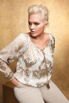 Addition Elle, Plus Size, Trends, Silver, White, Curvy, Plus Size Clothing, Apparel. Hair is fierce!