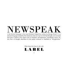 Newspeak, Harbou promotional flier | Flickr