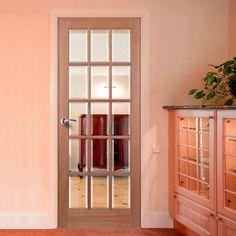 SA77 15 Pane Mahogany Door with Bevelled Clear Safety Glass. #internalglazedmahoganydoor #internalglazeddoor #mahoganydoor