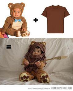 Regular bear costume + brown t-shirt = awesome…