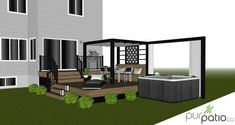 Townhouse Landscaping, Acreage Landscaping, Patio Plan, Backyard Plan, Backyard Ideas, Design Patio, Backyard Patio Designs, Garden Design, Diy House Projects