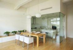 Paredes cristal - separación de cocina y salón