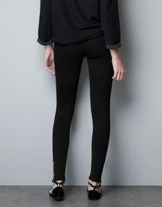 COMBINED OTTOMAN LEGGINGS - Trousers - Woman - ZARA United States