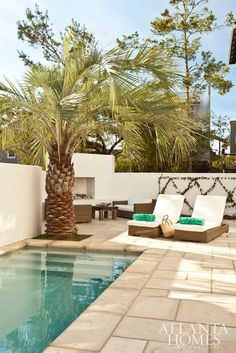 Shaded lounge chairs provide the perfect spot to soak up sunshine.