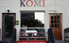Komi: A Dupont Circle, Washington DC Bar. Known for Wine. Date Night Restaurants, Dupont Circle, Places To Eat, Washington Dc, Outdoor Decor, Wine, Bar, Home Decor, Decoration Home