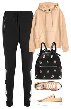 """Untitled #2028"" by rowan-asha ❤ liked on Polyvore featuring adidas Originals, H&M, Converse and Fendi"