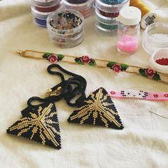 Siparişler hazırlanıyor#handmade #miyuki #muskakolye #elyapımı #