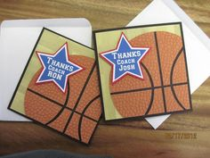 Thank you Basketball Coach cards by madamcasealot - Cards and Paper Crafts at Splitcoaststampers