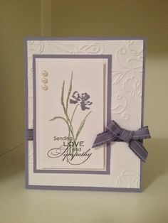 Stampin Up Love & Sympathy stamp set. Idea from Pinterest.