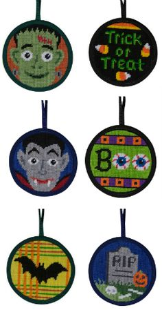 Easy Halloween needlepoint craft projects