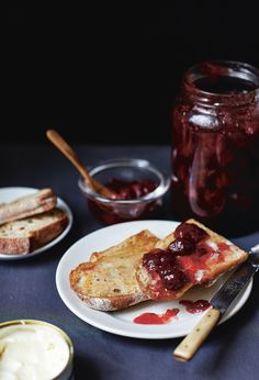 Strawberry and thyme jam